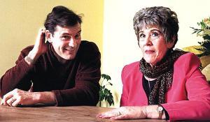 Glenn Hoddle with the faith healer Eileen Drewery. (Photo courtesy of The Sun.)