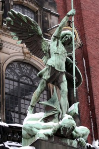 Michael's victory over the Devil - from St Michael's Church, Hamburg