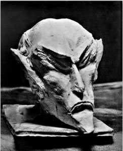 The Head of Ahriman, carved in wood by Rudolf Steiner.
