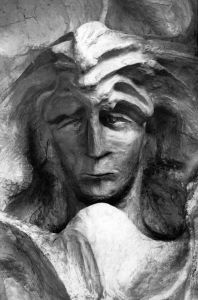The head of Lucifer - a carving by Rudolf Steiner
