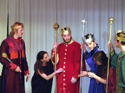 A production of the Three Kings' Play from Highland Hall School.